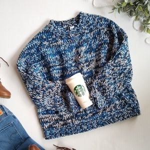 Divided • marled chunky knit sweater